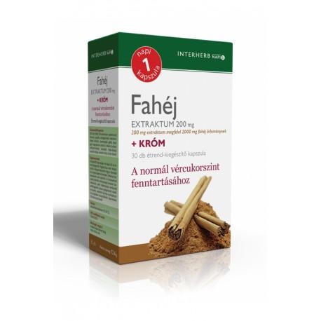 Fahéj Extraktum 200 mg +króm 30db