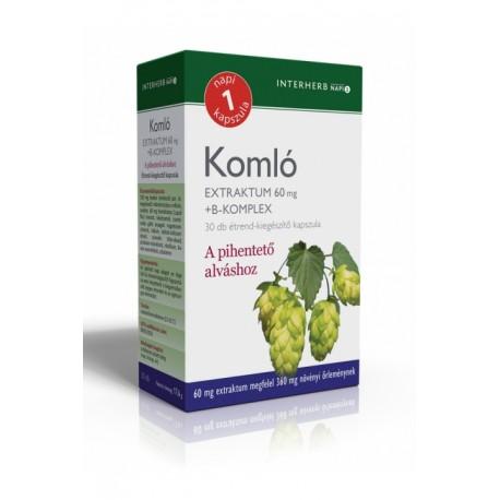 Komló Extraktum 60 mg+B-komplex kapszula 30db
